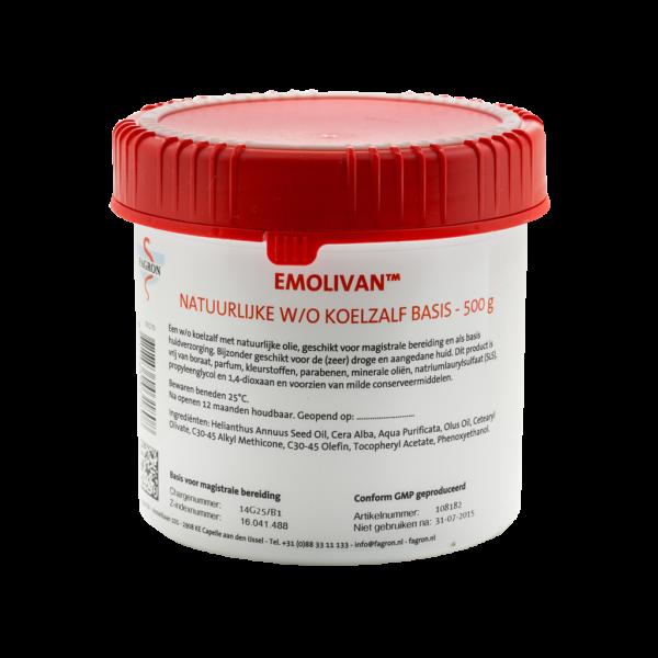 Emolivan™ is een natuurlijke koelzalf voor de zeer kwetsbare, gevoelige en droge huid. Deze innovatieve koelzalf is geformuleerd aan de hand van natuurlijke oliën, rijk aan omega-6-vetzuren en vitamine E. Emolivan is een niet vette, snel intrekkende koelzalf met uitstekende beschermende en hydraterende effecten.Emolivan heeft een huidvriendelijke formulering bevat geen parfum, parabenen (conserveermiddelen), propyleenglycol, wolvet lanoline en wolvetalcohol. Dit product is geschikt bij pinda-allergie.