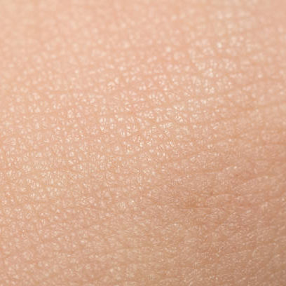 An extreme close-up of tanned skin on male hand.