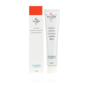Lanoline Vaseline Glycerine in gelijke delen - vette zalf voor zeer droge lippen, kloven en barstjes. toepasbaar bij schrale lippen, handeczeem en/of zeer droge huid